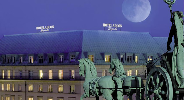 view of the famous adlon hotel in berlin