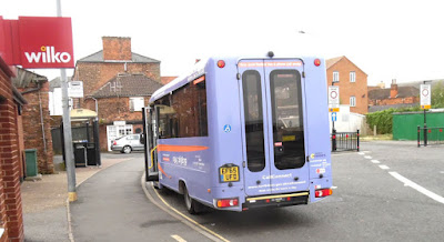 Picture: A CallConnect dial-a-ride bus in Brigg - see Nigel Fisher's Brigg Blog