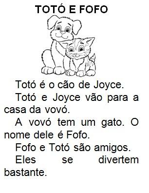 História infantil Totó e Fofo