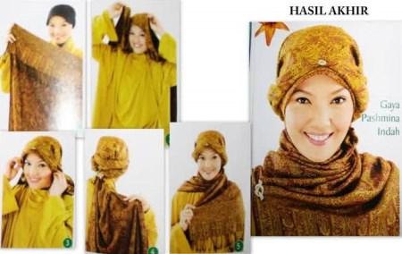 Model jilbab pesta pashmina yang anggun