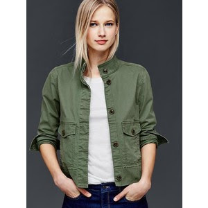 Gap utility swing jacket in olive