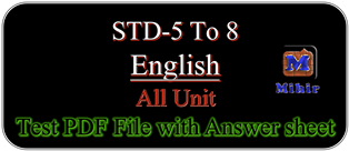Online, Download, English, Test, PDF, File, STD-8, Semester, 1, Answer Key,  SCE Evaluation, Mulyakan, Test Online, PDF File, My blog, All Test, One  PDF File, Very, Useful, Teacher, Student, std 5, std 6,std 7 std 8