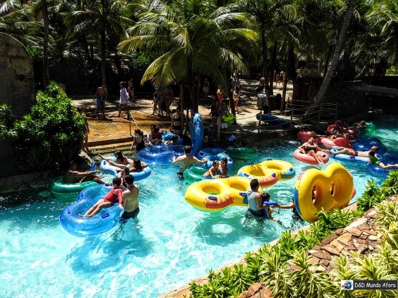 Correnteza encantada - Beach Park - parque aquático do Ceará