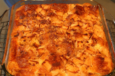 bread pudding, cooling rack