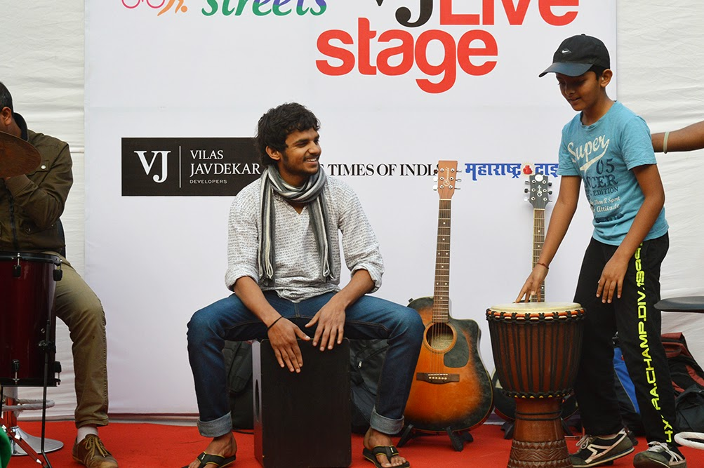 Happy Street Pune drumming dude djembe