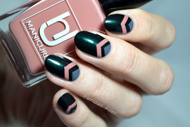 hj manicure review single chevron nail art autumn