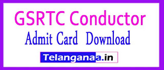 GSRTC Conductor Admit Card 2017 Exam Date Gujarat ojas.gujarat.gov.in Hall Ticket