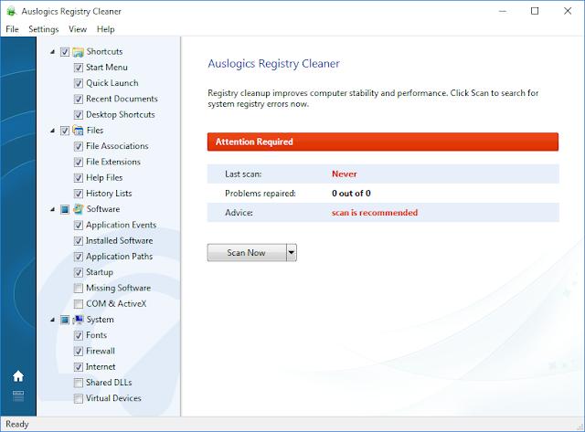 Auslogics Boost Speed 8 registry cleaner
