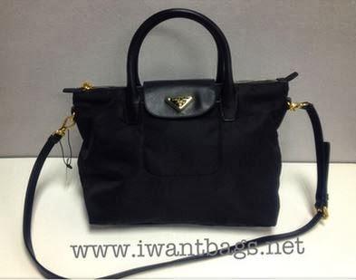 bc4bfc4d0770 I Want Bags backup: Prada Tessuto Saffiano Nylon Top Handle 2 Way ...