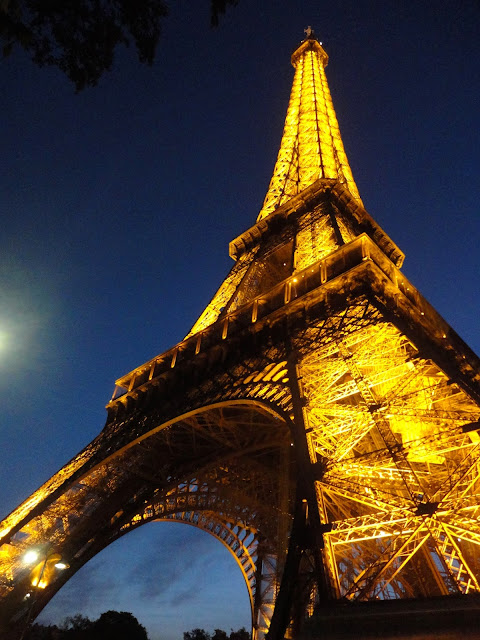 Eiffel Tower lights at night, Paris