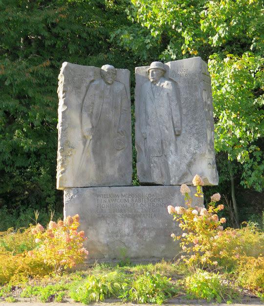 Pomnik Władysława Szafera (1886-1970) i Hugona Zapałowicza (1852-1917).