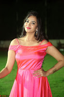 Actress Pujita Ponnada in beautiful red dress at Darshakudu music launch ~ Celebrities Galleries 033.JPG