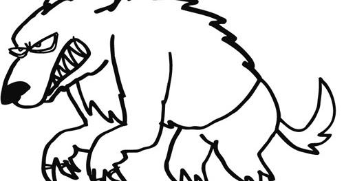 Dibujo De Hombre Lobo Para Colorear: Hombre Lobo Para Colorear Y Pintar