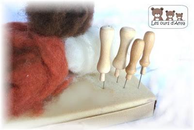Aiguilles à piquetage munies avec embout les ours d'Anya