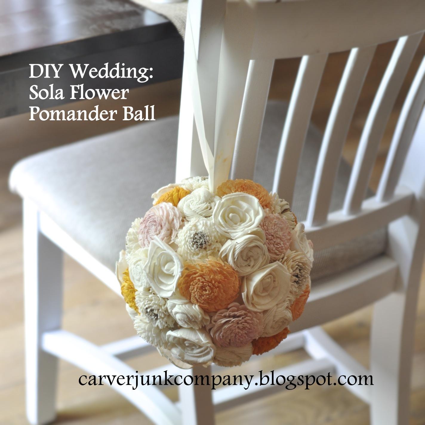 Carver junk company diy wedding decor sola wood flower pomander balls diy wedding decor sola wood flower pomander balls izmirmasajfo