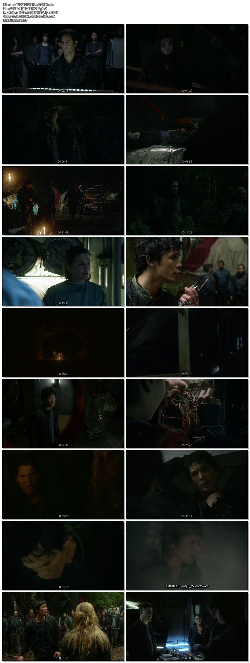 Screenshots Of Hindi Dubbed Show The 100 2014 S01E11 300MB 720P HD