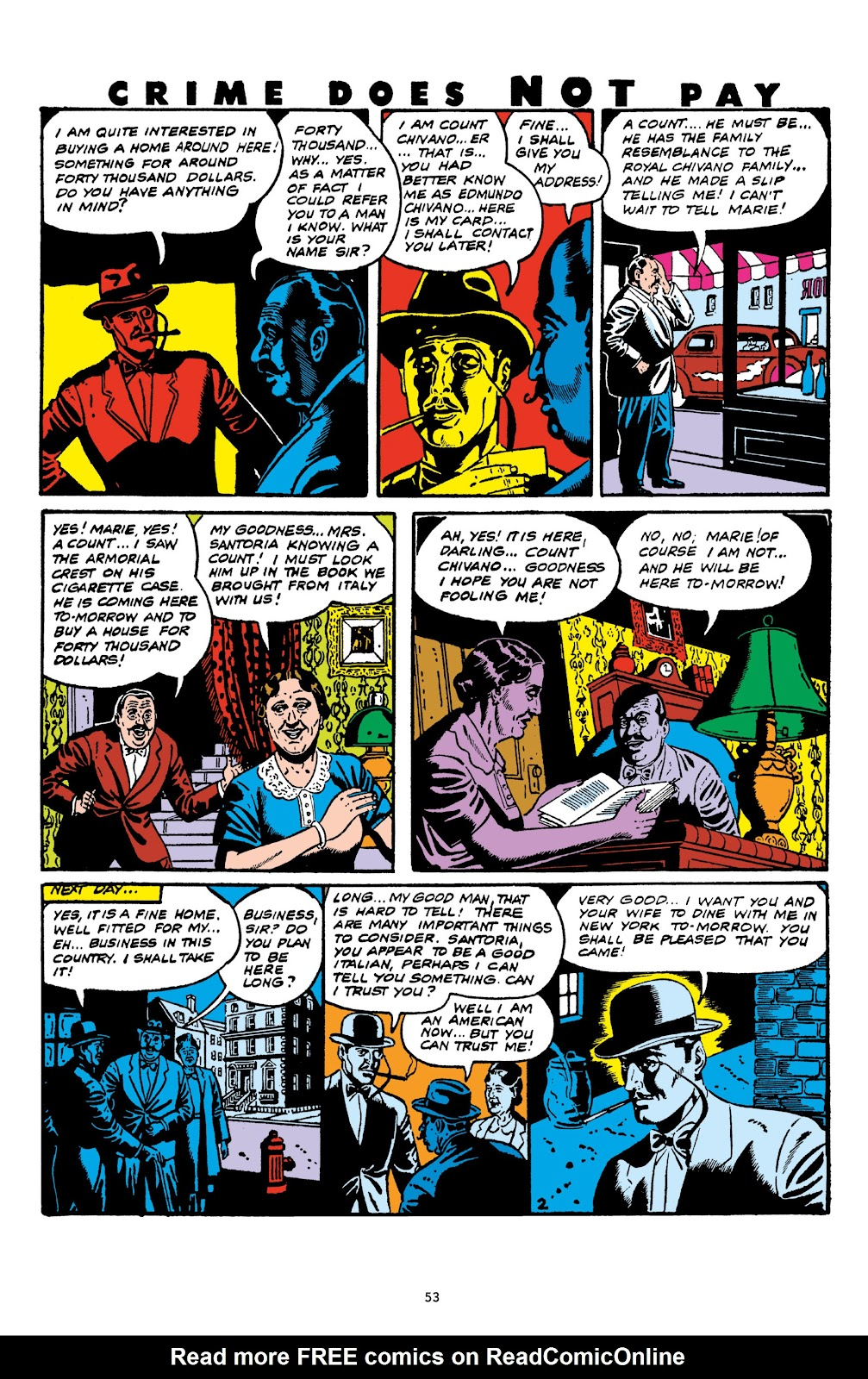 Read online Crime Does Not Pay Archives comic -  Issue # TPB 6 (Part 1) - 55