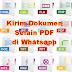 Cara Kirim Dokumen File selain PDF dari aplikasi Whatsapp