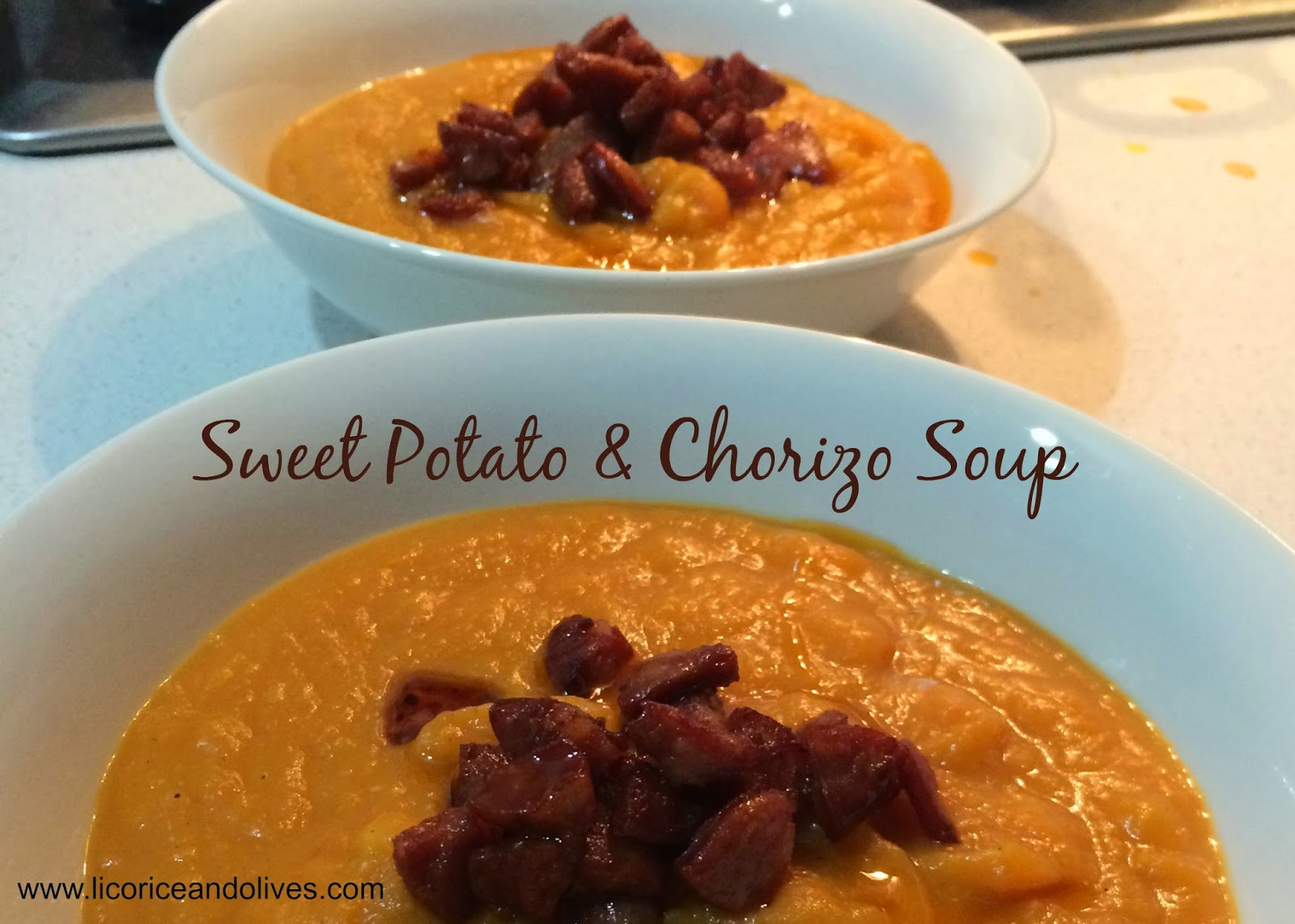 Licorice and Olives: Sweet Potato & Chorizo Soup Recipe