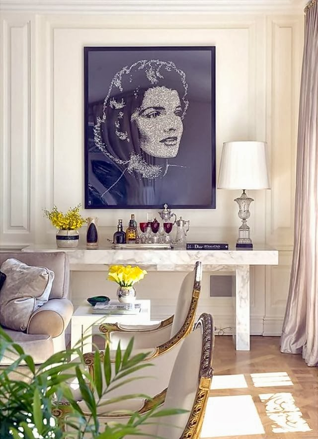 how to use oversized art in your home decor black and white photo
