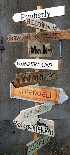 http://pollyanna-reinvents.blogspot.com/2012/08/literary-garden-sign-post.html
