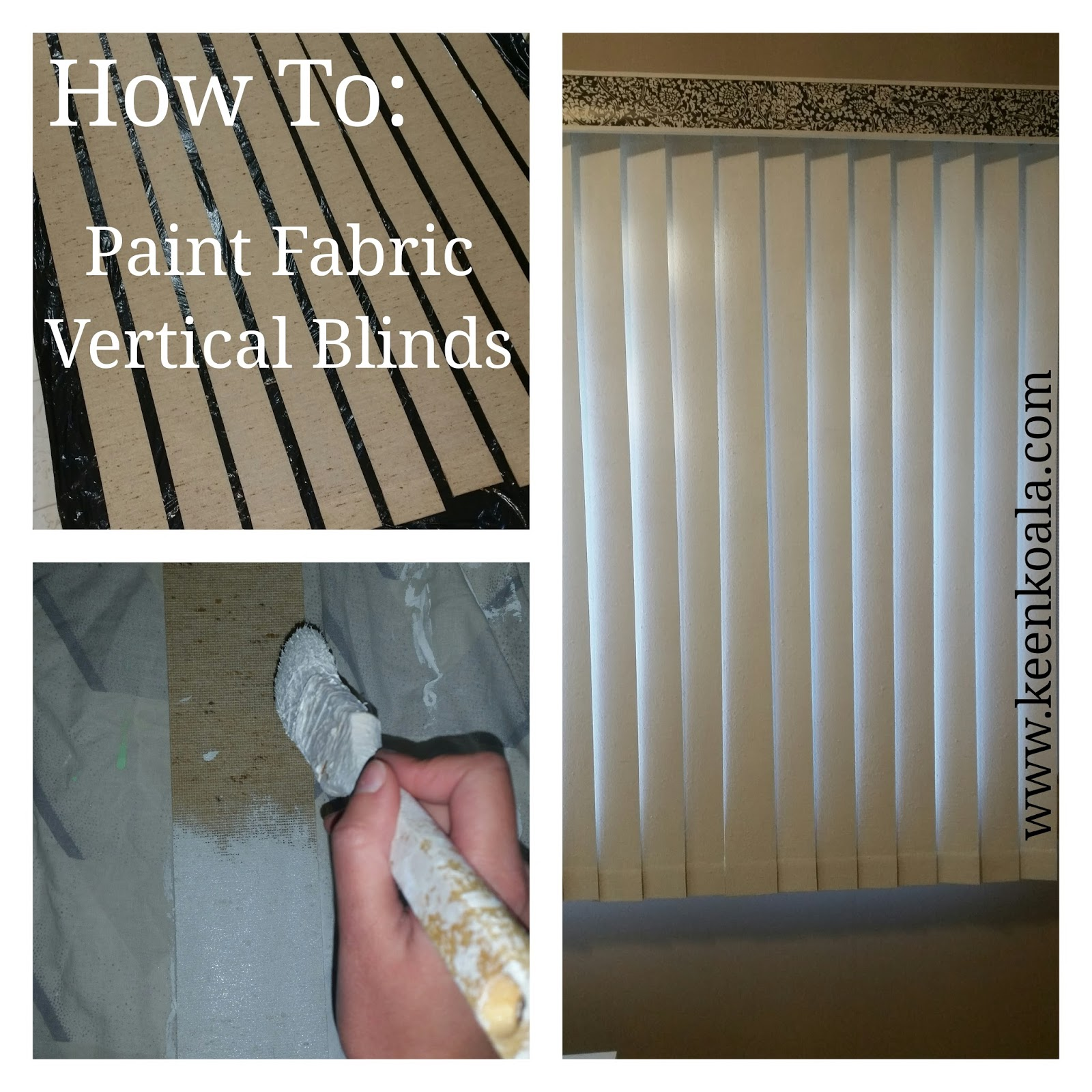 Keen Koala DIY How To Paint Fabric Vertical Blinds