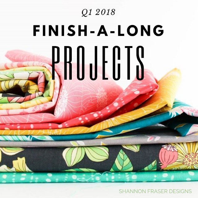 Q1 2018 Finish-A-Long Quilt Projects | Shannon Fraser Designs | Modern Quilting | WIP | Quilt Patterns