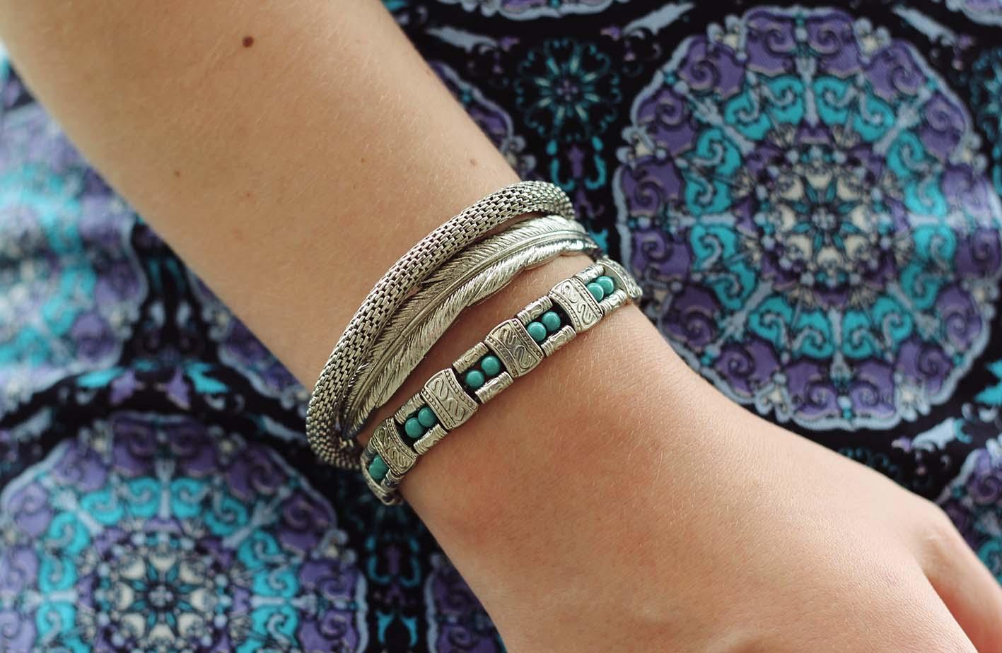 motel mandala skirt silver turquoise jewellery