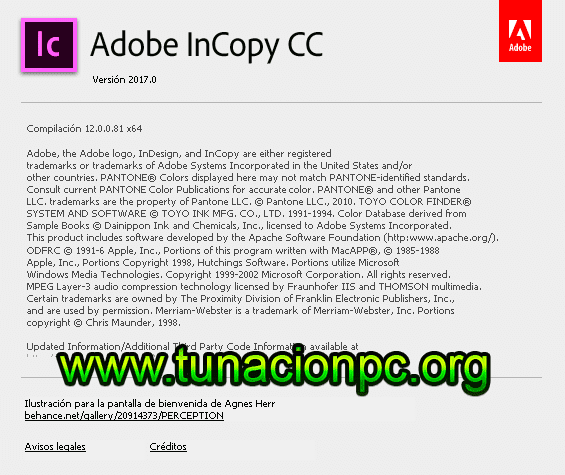 Adobe InCopy CC 2017 para Windows y MacOS