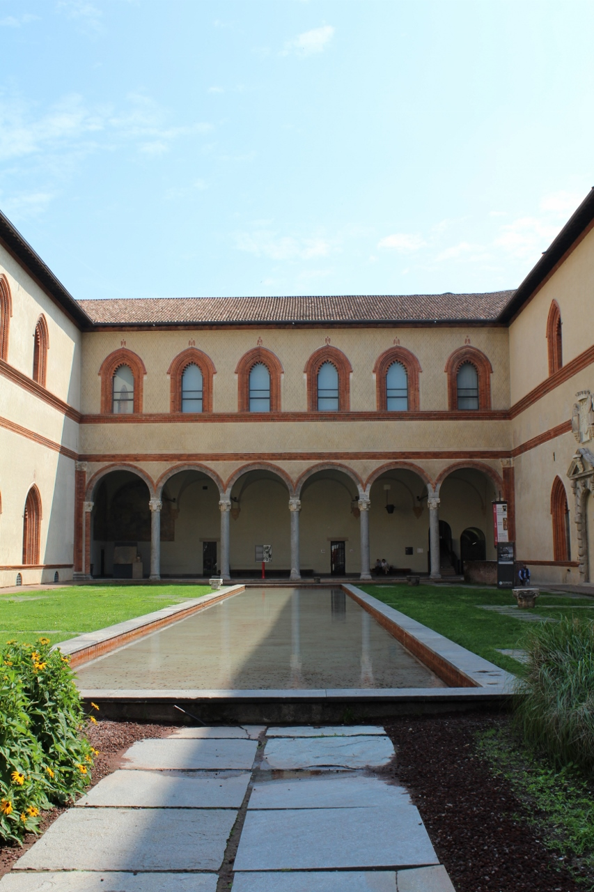 Courtyard of Castello Sforzesco in Milan
