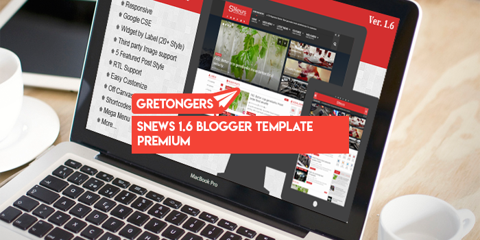 SNews 1.6 Blogger Template Premium