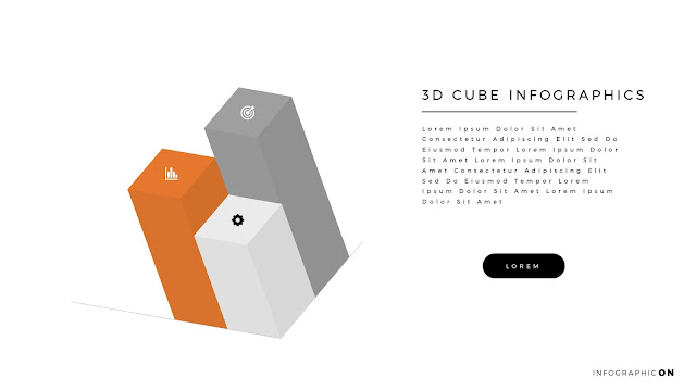 3D CUBE Infographic Elements for PowerPoint Slide 2