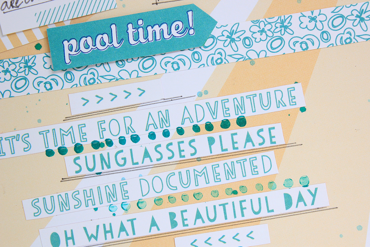 Fun In The Sun Scrapbook Page by Juliana Michaels for Elle's Studio #shine #ellesstudio #scrapbookpage