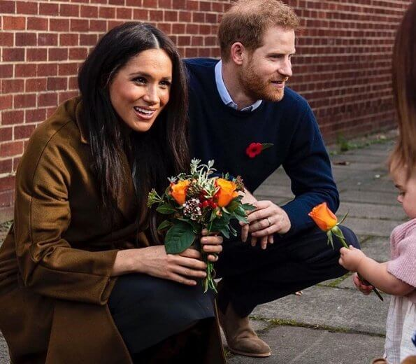 Prince Harry and Meghan Markle visited the Broom Farm Community Centre in Windsor where they met with military families
