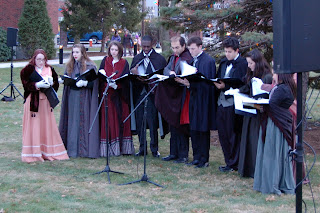 carollers on the Dean campus at the 2014 Holiday Stroll