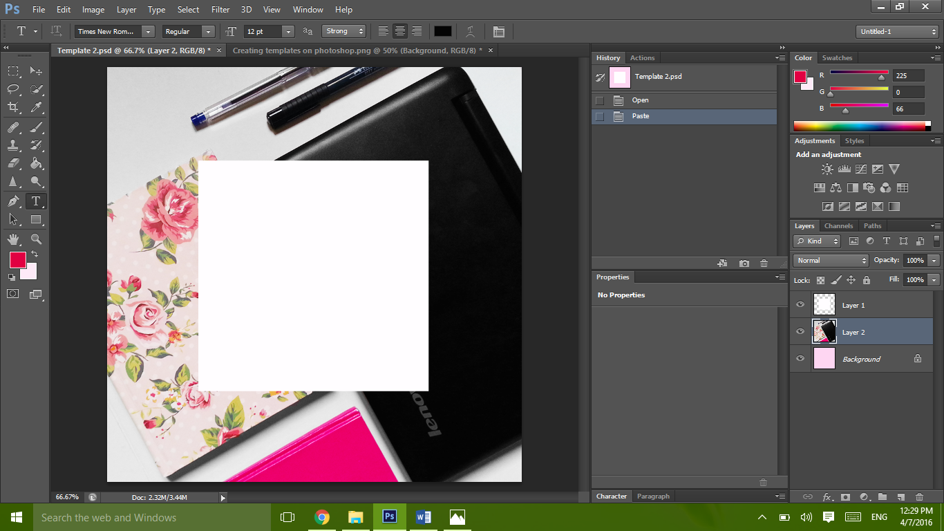 Learn how to create and customize templates on photoshop
