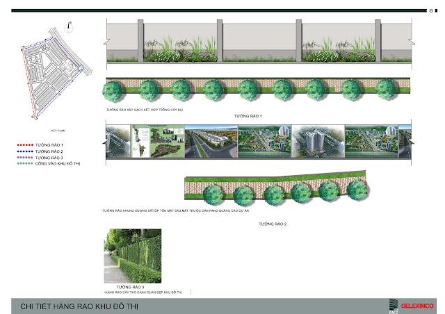 Thiết kế hàng rào khu đô thị The Green Daisy