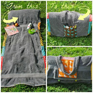 DIY Beach Bag Towel