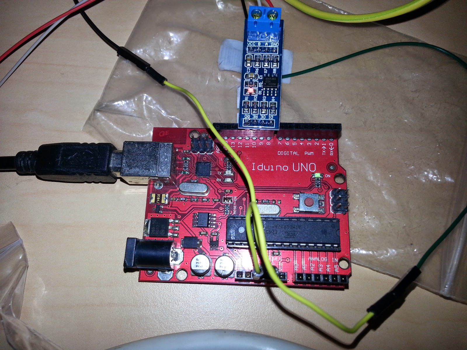 VFD control with Arduino using RS485 link