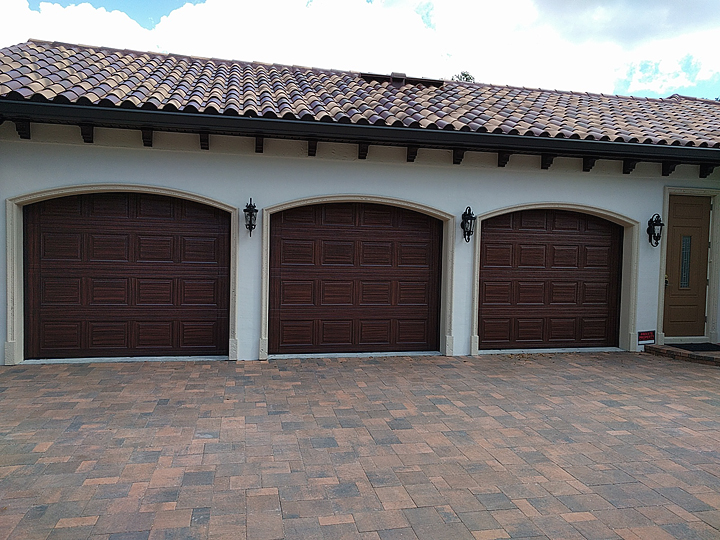 ... Beautiful And The Homeowners Love Them But Itu0027s A Real Struggle To Get  That Top Row Painted With A Wood Grain Pattern. First Off Because The Garage  Door ...