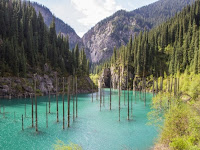 Only in Kazakhstan, the Magic Lake with the Forest inside