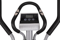 Sunny SF-E3608 console & dual-action handlebars, LCD display, with hand grip pulse heart-rate sensors in static handlebars