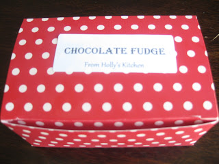 chocolate fudge in a box gift