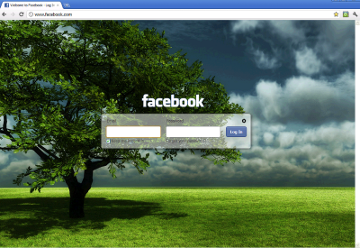 Facebook Login background changer