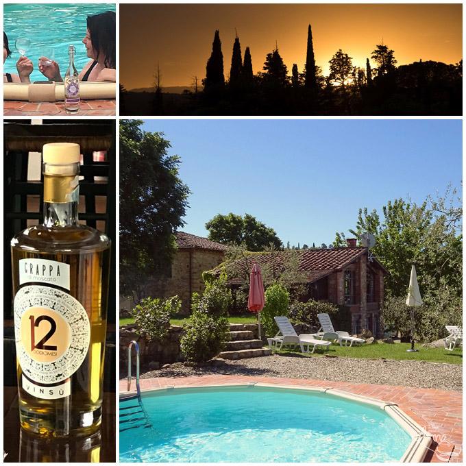 Collage Ferienhaus mit Pool Pieve a Presciano