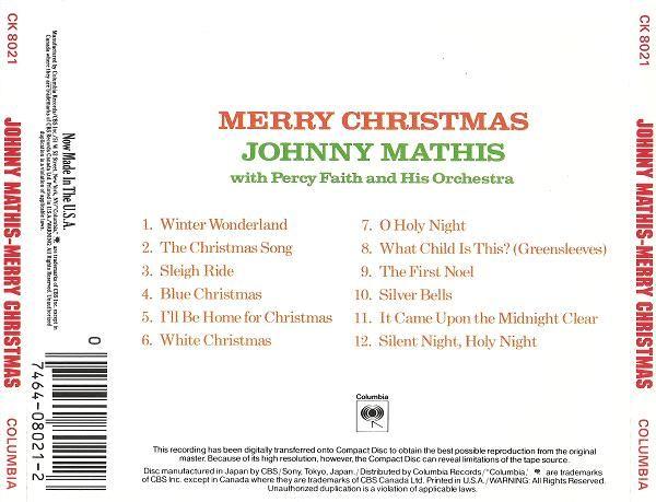 johnny mathis merry christmas 1958 ringo - Johnny Mathis Merry Christmas