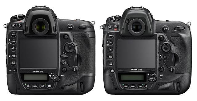 Камеры Nikon D5 и D4s вид сзади