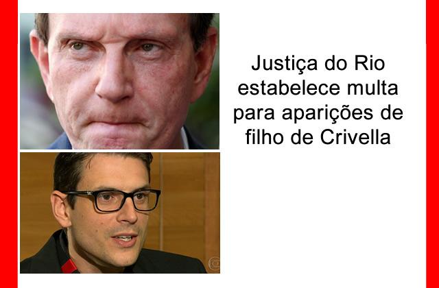 Justiça do Rio estabelece multa para aparições de filho de Crivella.