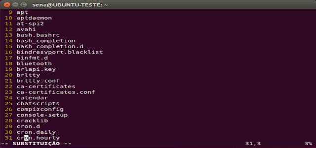 comandos de inserção de texto