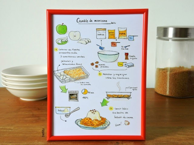 Apple crumble - Illustrated recipe by betitu